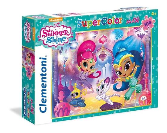 104 Elementy Maxi, Shimmer i Shine (23705 CLEMENTONI)