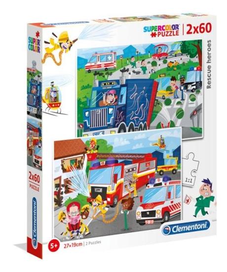 Clementoni Puzzle 2x60el SUPER KOLOR Rescue Heroes 21602 p6 (21602 CLEMENTONI)