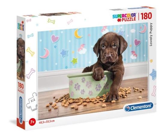 Clementoni Puzzle 180el Szczeniaczek Lovely Puppy 29754 p6, cena za 1szt. (29754 CLEMENTONI)