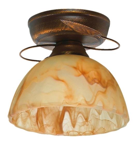 Lampa sufitowa brąz + miedź