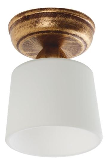 Lampa sufitowa brąz + złoto