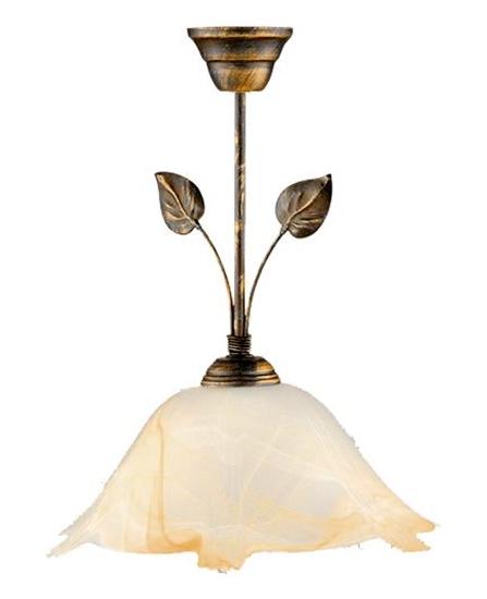 Lampa wiszaca brąz + miedź