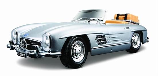 Mercedes-Benz 300 SL 1957 srebrny 1:18 BBURAGO