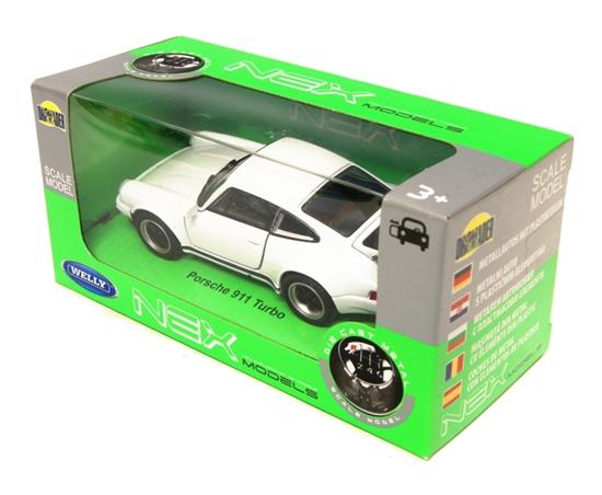 Welly 1:34 Porsche 911 Turbo - biały