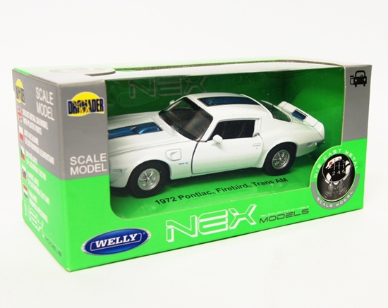 Welly 1:34 Pontiac 1972 Firebird Trans AM - biały