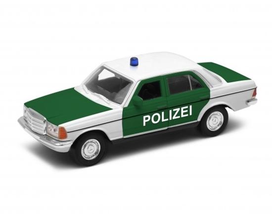 Welly 1:34 Mercedes-Benz W123 E-Class -policja - biało-zielon