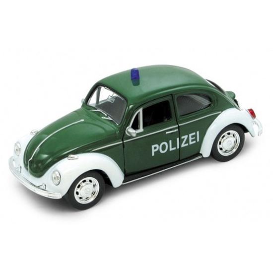WELLY 1:34 VW BEETLE - POLIZEI zielony