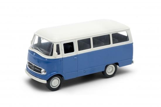 Welly 1:34 Mercedes-Benz L319 osobowy niebieski z białym