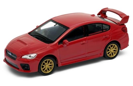 WELLY 1:34 Subaru Impreza WRX STI - czerwony