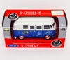 WELLY 1:34 VW BUS T1 1963 - LOVE & PEACE niebieski