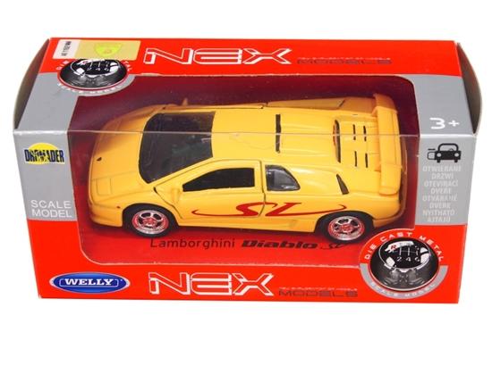 WELLY 1:34 Lamborghini Diablo SV żółta