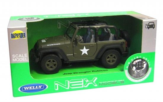 WELLY 1:34 Jeep Wrangler Rubicon - wojskowy