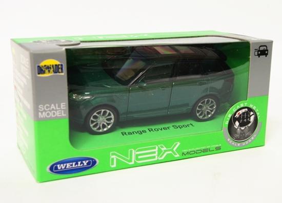 Welly 1:34 Land Rover Range Rover Sport -zielony