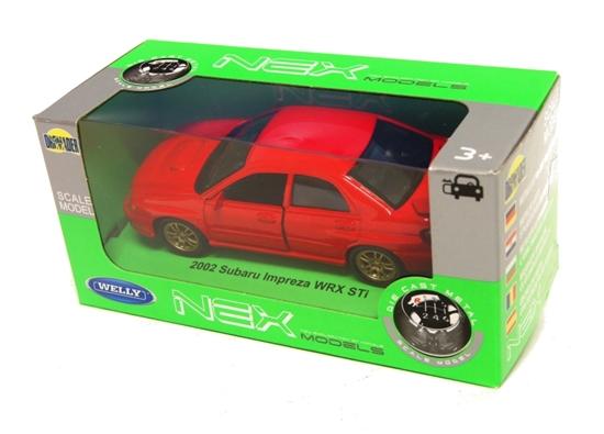 Welly 1:34 Subaru Impreza 2002 WRX STi - czerwony