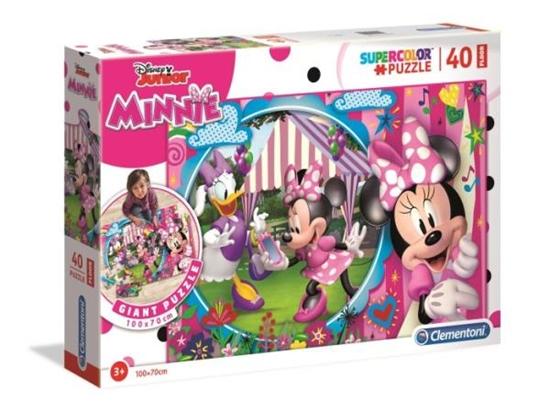 Clementoni Puzzle 40el PODŁOGOWE SUPER KOLOR Minnie 25462 p6 (25462 CLEMENTONI)