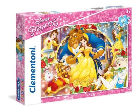 Clementoni Puzzle 60el Princess Piękna i Bestia 26966 (26966 CLEMENTONI)