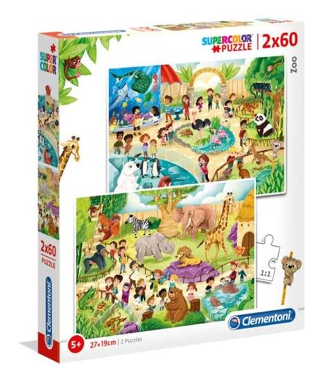 Clementoni Puzzle 2x60el Zoo 21603 p6 (21603 CLEMENTONI)