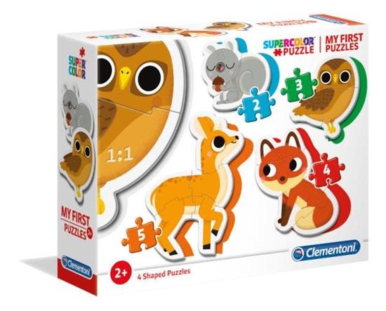 Clementoni Moje pierwsze puzzle Zwierzęta leśne 2-3-4-5 20814 (20814 CLEMENTONI)