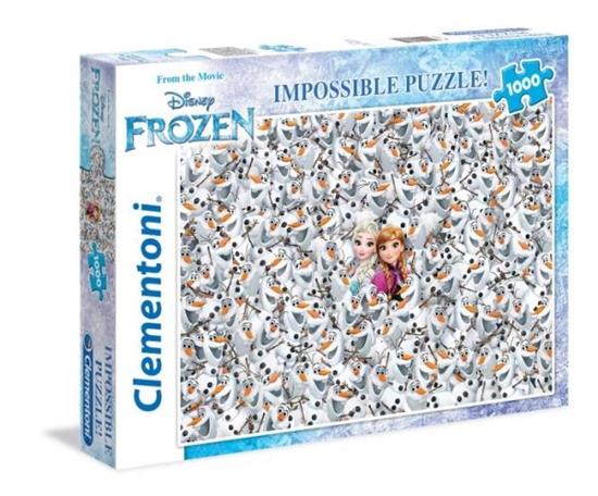 Clementoni Puzzle 1000el Impossible Frozen 39360 p6, cena za 1szt. (39360 CLEMENTONI)