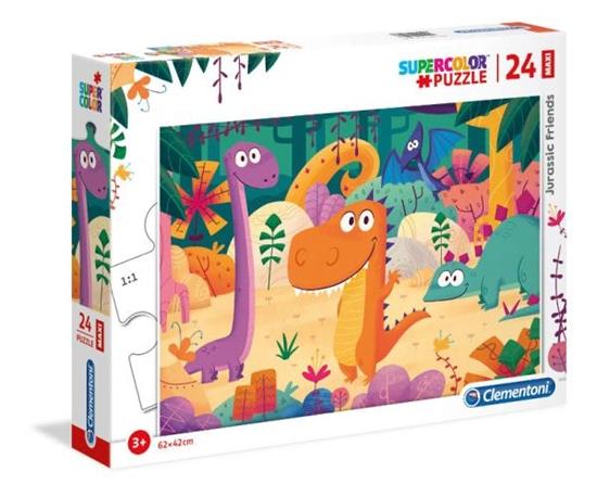 Clementoni Puzzle 24el Maxi  Jurassic Friends 28506 p6 (28506 CLEMENTONI)