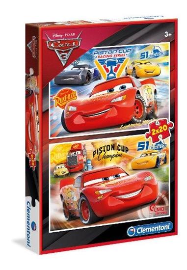 Clementoni Puzzle 2x20el Cars 3 07027 p6, cena za 1szt. (07027 CLEMENTONI)