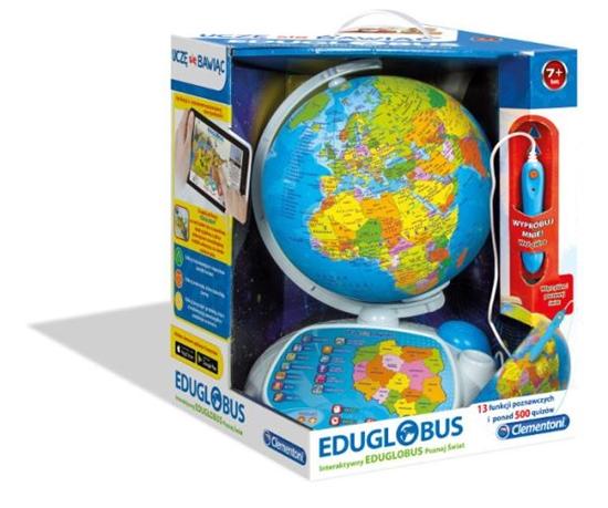 Clementoni Interaktywny EduGlobus Poznaj Świat 60444  p4, cena za 1szt. (60444 CLEMENTONI)