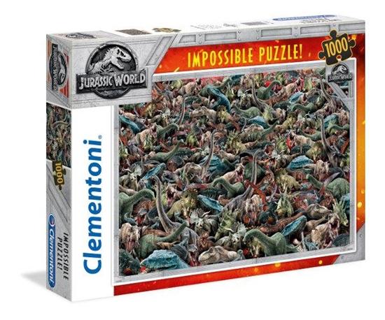 Clementoni Puzzle 1000el Impossible Jurassic World 39470 p6, cena za 1szt. (39470 CLEMENTONI)