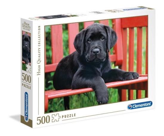 Clementoni Puzzle 500el Czarny pies 30346 p6, cena za 1szt. (30346 CLEMENTONI)