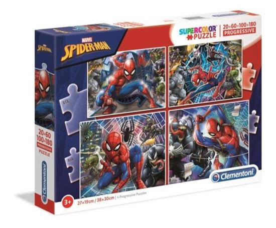 Clementoni Puzzle 20+60+100+180el SUPER KOLOR Spider-Man 21410 p6 (21410 CLEMENTONI)