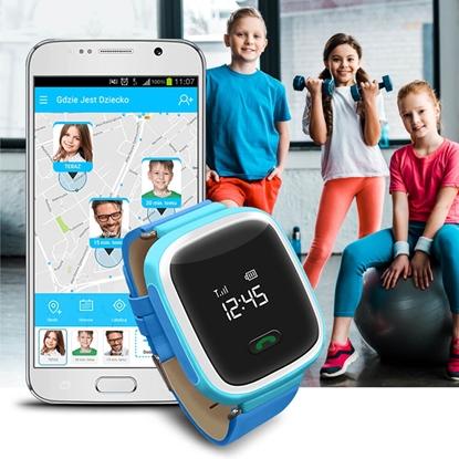 Zegarek GPS Bezpieczna Rodzina dla dzieci GJD.01 Niebieski