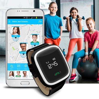 Zegarek GPS Bezpieczna Rodzina dla dziecka GJD.01 Czarny