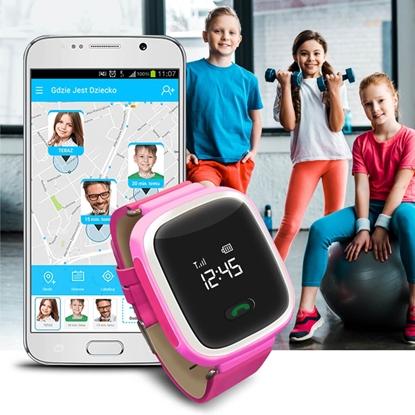 Zegarek GPS Bezpieczna Rodzina dla dzieci GJD.01 Różowy
