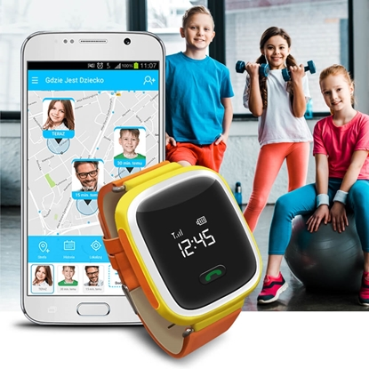 Zegarek GPS Bezpieczna Rodzina dla dzieci GJD.01 Pomarańczowy