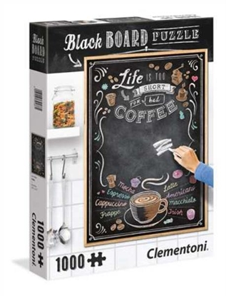Clementoni Puzzle 1000el Blackboard Coffee 39466 p6 (39466 CLEMENTONI)