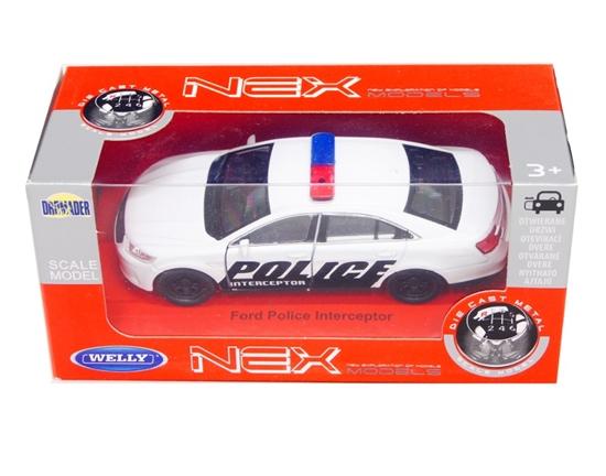 Welly 1:34 Ford Police Interceptor -biały