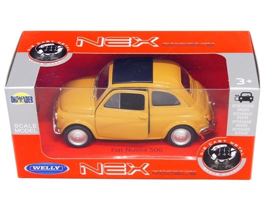 Welly 1:34 Fiat Nuova 500 -musztardowy