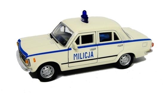 WELLY 1:39 FIAT 125P MILICJA - biały