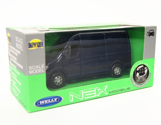Welly 1:34 Mercedes-Benz Sprinter Panel Van -granatowy
