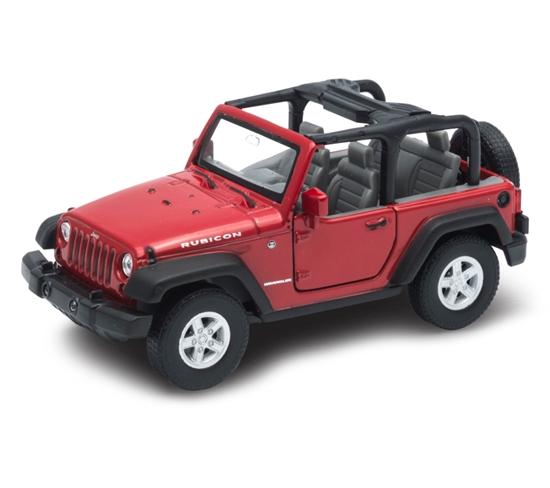 WELLY 1:34 Jeep Wrangler Rubicon cabrio - czerwony