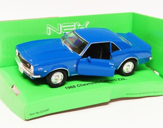 Welly 1:34 Chevrolet Camaro Z28 '68 - niebieski
