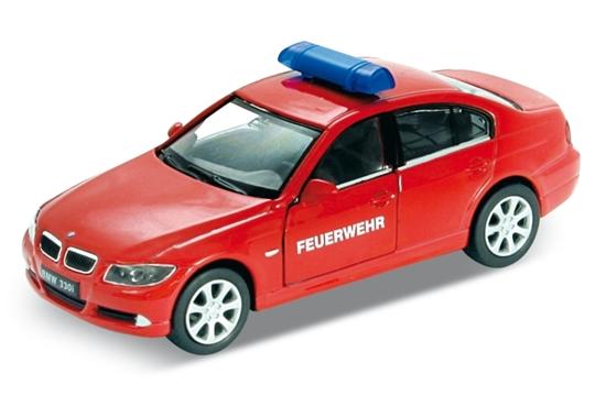 Welly 1:34 BMW 330i straż - czerwony