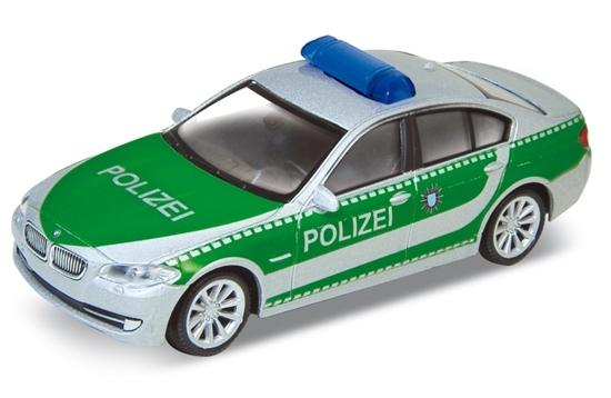 Welly 1:34 BMW 535i  POLIZEI -srebrno-zielony