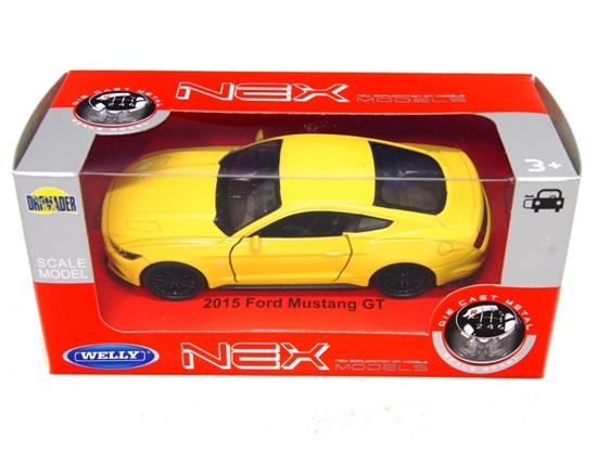 WELLY 1:34 Ford Mustang GT 2015 - żółty