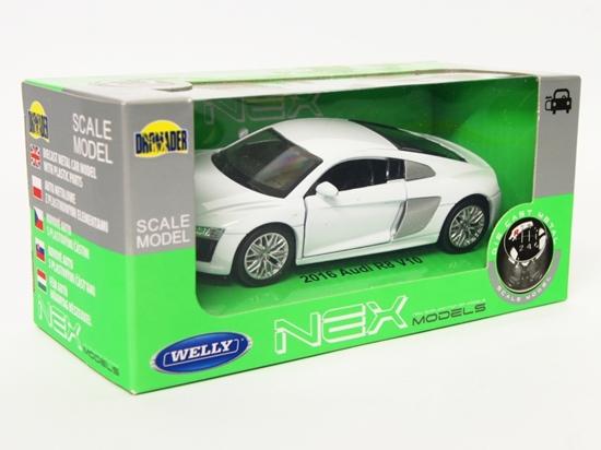 Welly 1:34 Audi R8 V10  -biały