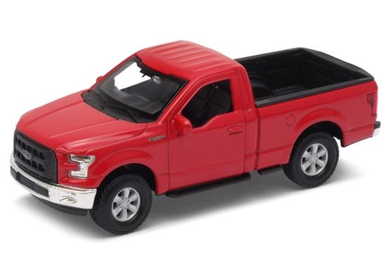 WELLY 1:34 Ford F-150 Regular Cab 2015 - czerwony