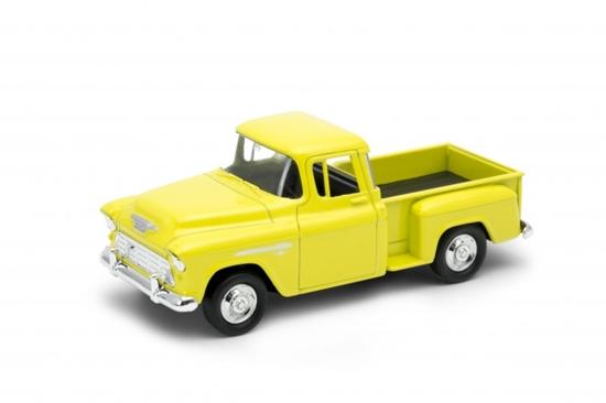 Welly 1:34 Chevy Stepside 1955 żółty