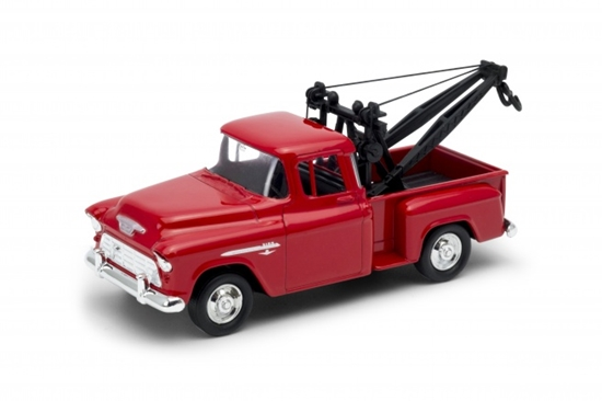 Welly 1:34 Chevy Stepside Tow Truck 1955 -czerwony