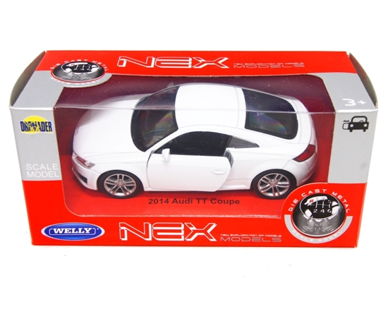 WELLY 1:34 Audi TT Coupe 2014 - biały