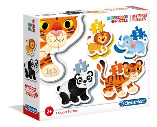Clementoni Moje pierwsze puzzle Zwierzęta dzikie 2+3+4+5 20810 (20810 CLEMENTONI)