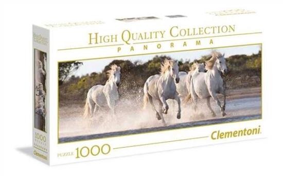 Clementoni Puzzle 1000el HQC Panorama. Running Horses 39441 p6, cena za 1szt. (39441 CLEMENTONI)
